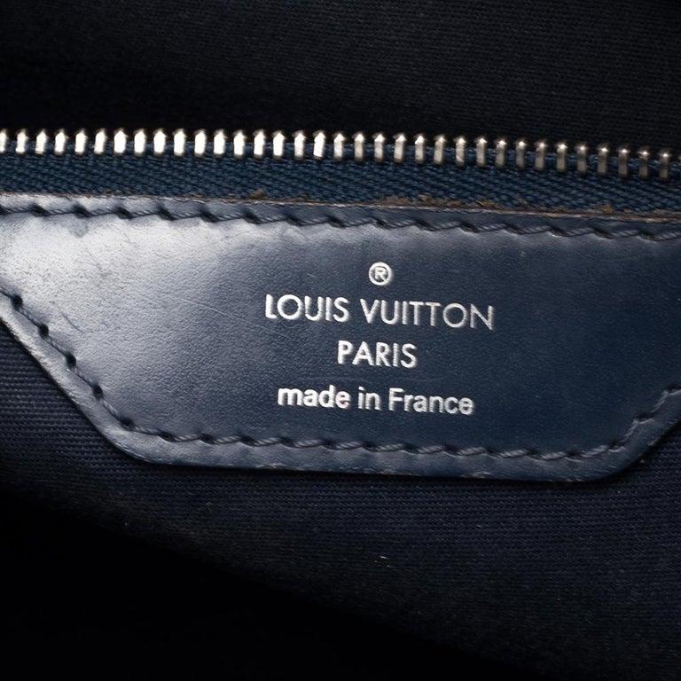 Louis Vuitton Indigo Blue Epi Leather Brea MM Bag For Sale 10