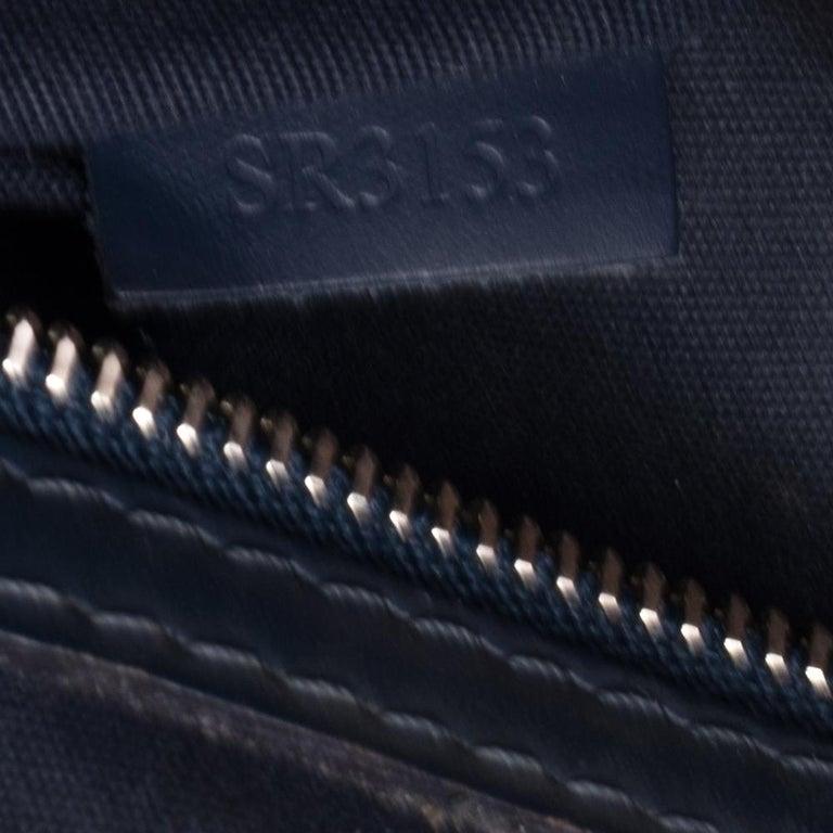 Louis Vuitton Indigo Blue Epi Leather Brea MM Bag For Sale 11