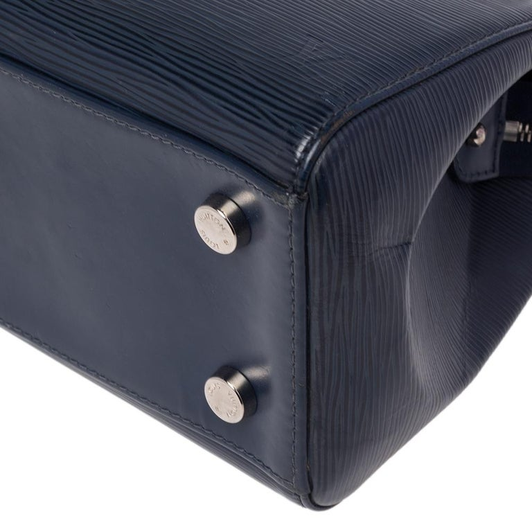 Louis Vuitton Indigo Blue Epi Leather Brea MM Bag For Sale 1