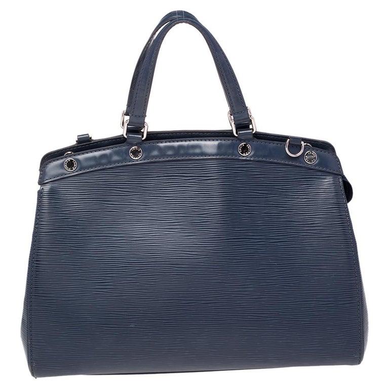 Louis Vuitton Indigo Blue Epi Leather Brea MM Bag For Sale 2