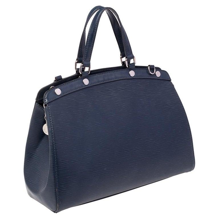 Louis Vuitton Indigo Blue Epi Leather Brea MM Bag For Sale 3