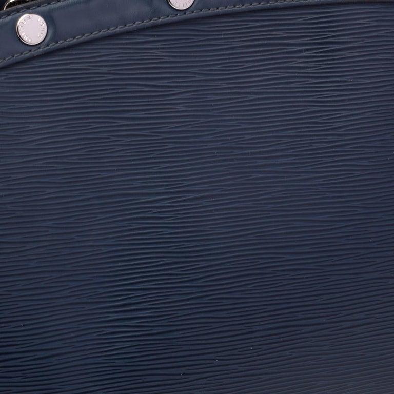 Louis Vuitton Indigo Blue Epi Leather Brea MM Bag For Sale 4