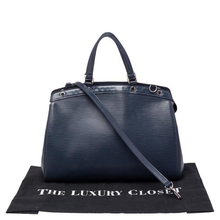 Louis Vuitton Indigo Blue Epi Leather Brea MM Bag For Sale 5