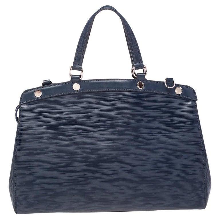 Louis Vuitton Indigo Blue Epi Leather Brea MM Bag For Sale