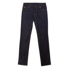 Louis Vuitton Indigo Dark Wash Denim Straight Fit Jeans S