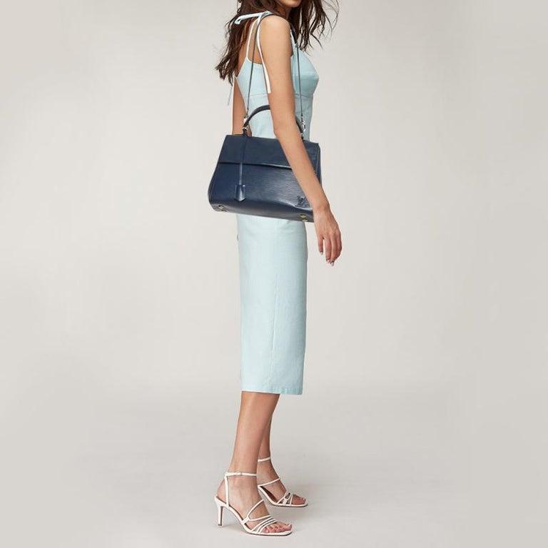 Black Louis Vuitton Indigo Epi Leather Cluny MM Bag