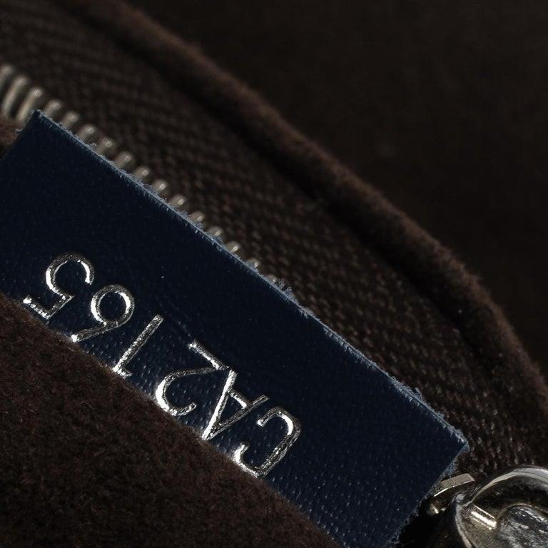 Louis Vuitton Indigo Epi Leather Cluny MM Bag For Sale 1