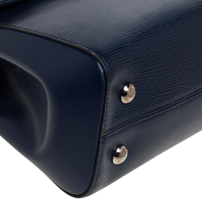 Louis Vuitton Indigo Epi Leather Cluny MM Bag 1