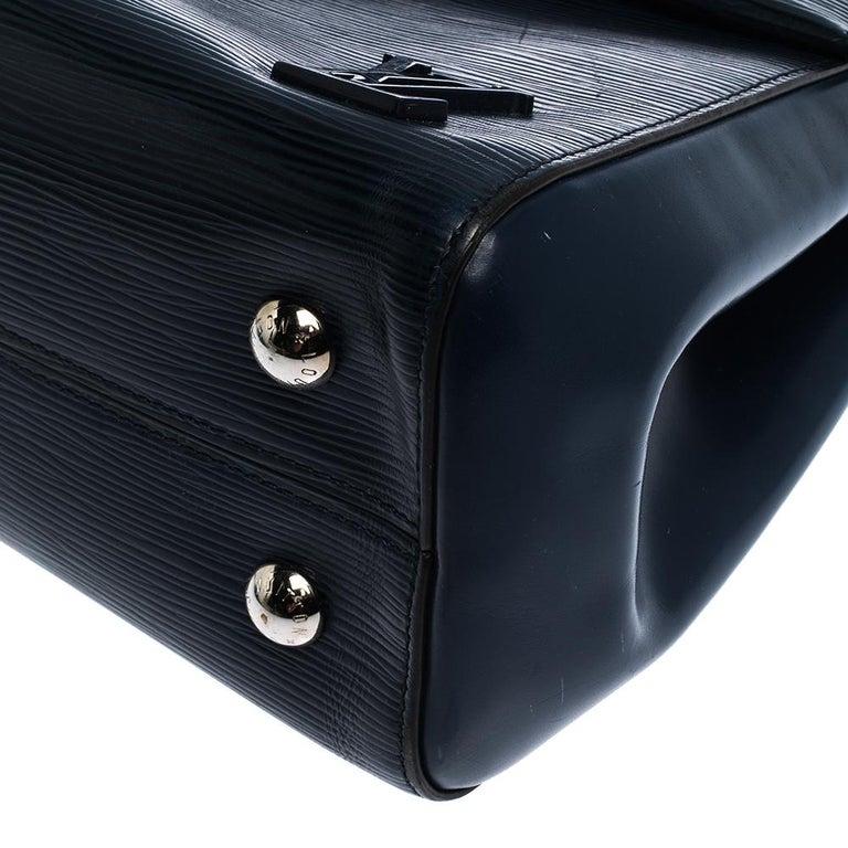 Louis Vuitton Indigo Epi Leather Cluny MM Bag For Sale 3