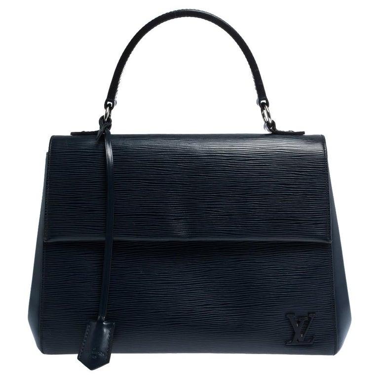 Louis Vuitton Indigo Epi Leather Cluny MM Bag For Sale