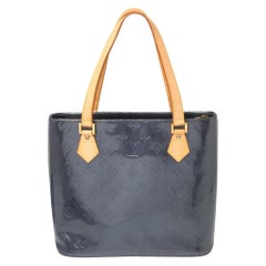 Louis Vuitton Indigo Monogram Vernis Houston Bag