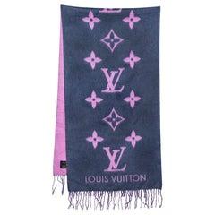 Louis Vuitton Indigo & Pink Reykjavik Cashmere Scarf