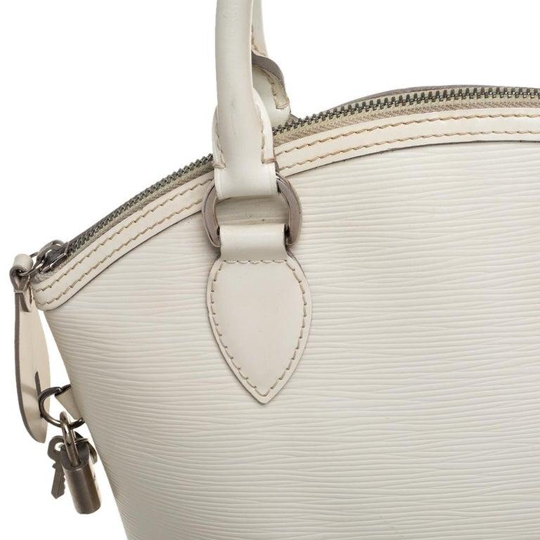 Louis Vuitton Ivorie Epi Leather Lockit Vertical Bag For Sale 5
