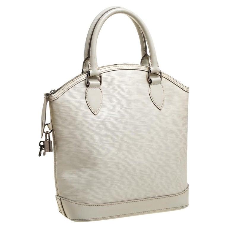 Louis Vuitton Ivorie Epi Leather Lockit Vertical Bag In Good Condition For Sale In Dubai, Al Qouz 2