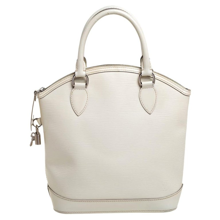 Louis Vuitton Ivorie Epi Leather Lockit Vertical Bag For Sale
