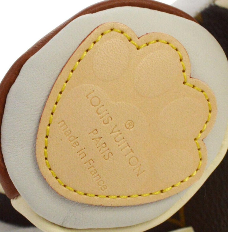 Louis Vuitton Ivory Brown Monogram Canvas Leather Toy Novelty Puppy Pet in Box  For Sale 1