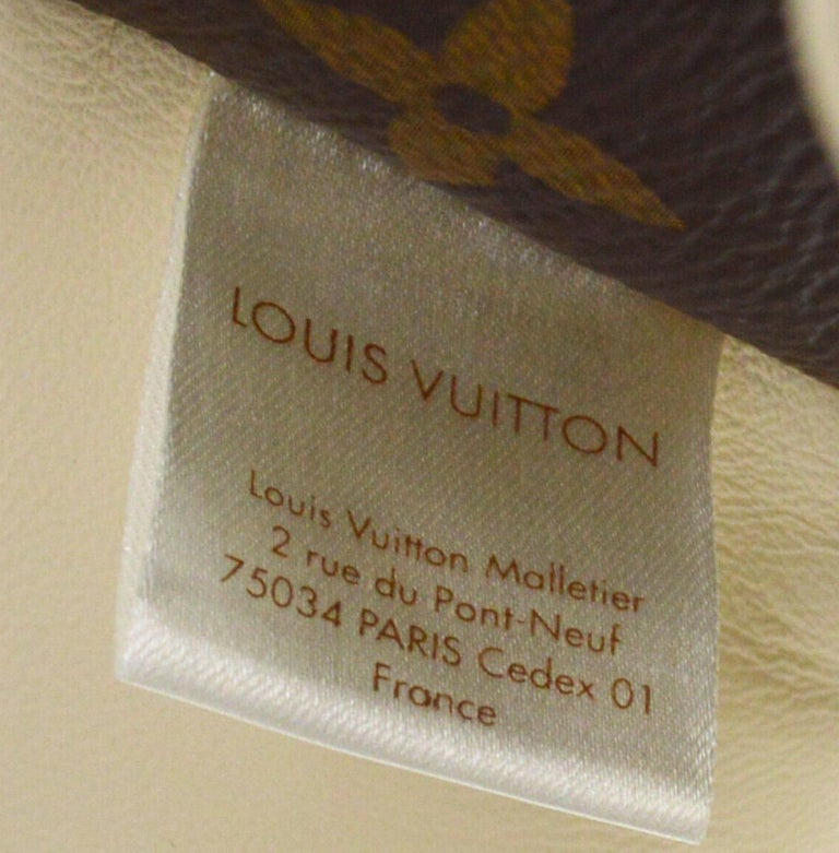 Louis Vuitton Ivory Brown Monogram Canvas Leather Toy Novelty Puppy Pet in Box  For Sale 2