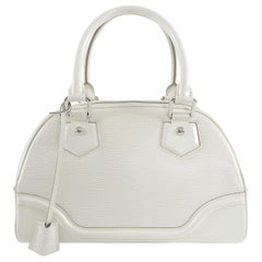 Louis Vuitton Ivory Epi Bowling Montaigne PM Bag