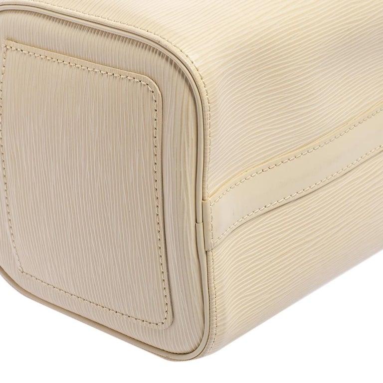 Louis Vuitton Ivory Epi Leather Speedy 25 For Sale 6