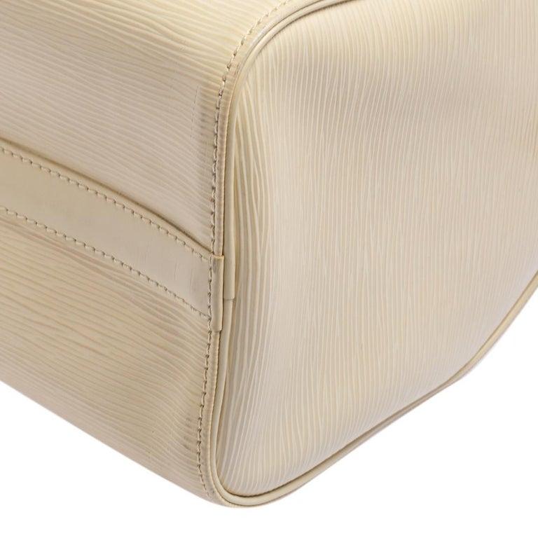 Louis Vuitton Ivory Epi Leather Speedy 25 For Sale 7