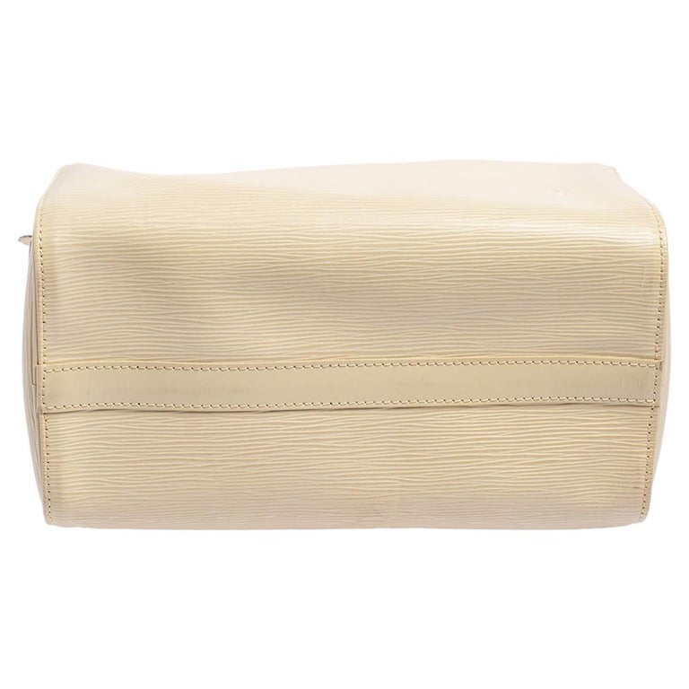 Women's Louis Vuitton Ivory Epi Leather Speedy 25 For Sale