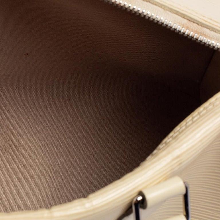Louis Vuitton Ivory Epi Leather Speedy 25 For Sale 1