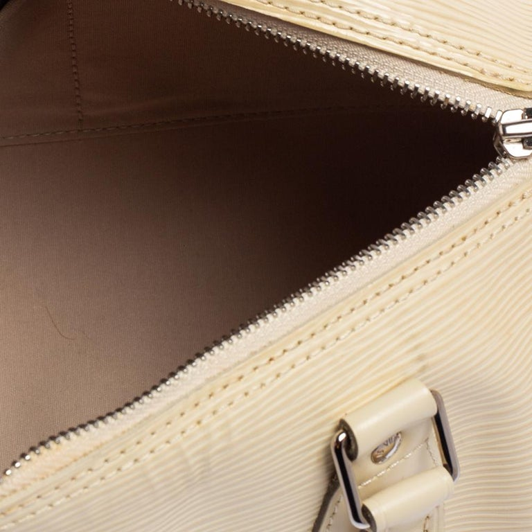 Louis Vuitton Ivory Epi Leather Speedy 25 For Sale 2