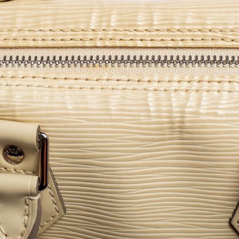 Louis Vuitton Ivory Epi Leather Speedy 25 For Sale 3