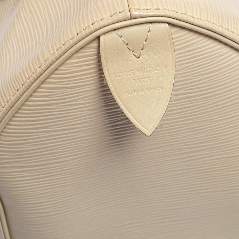Louis Vuitton Ivory Epi Leather Speedy 25 For Sale 4