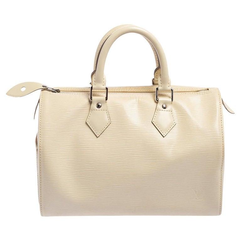 Louis Vuitton Ivory Epi Leather Speedy 25 For Sale