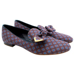 Louis Vuitton Jacquard Bow Detail Loafers 39
