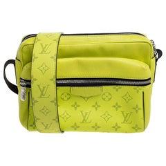 Louis Vuitton Jaune Monogram Eclipse Canvas and Tiaga Leather Messenger Bag