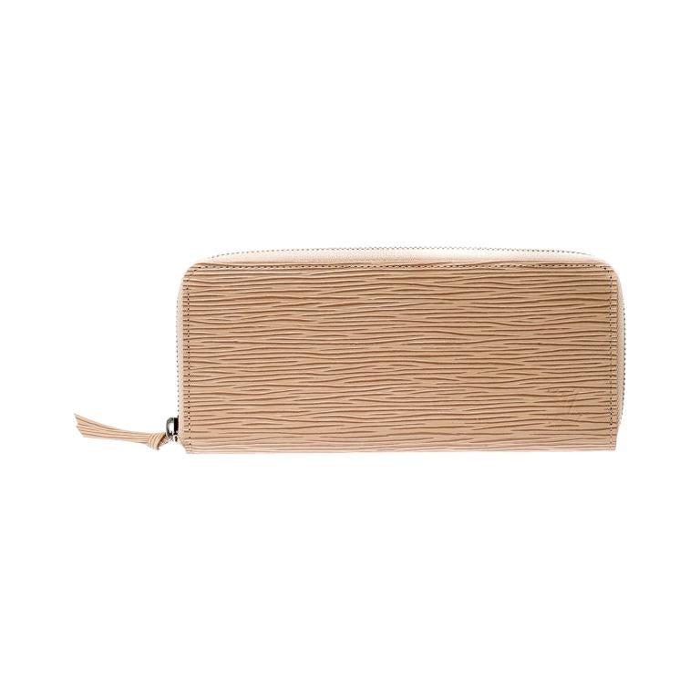 Louis Vuitton Jaune Pale Epi leather Zippy Wallet For Sale
