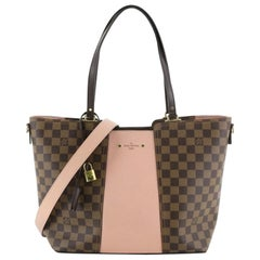 Louis Vuitton Jersey Handbag Damier with Leather,