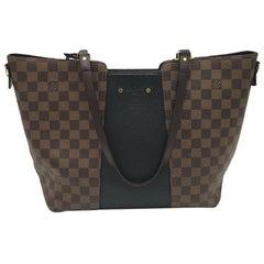 LOUIS VUITTON Jersey Shoulder bag in Brown Canvas