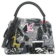 Louis Vuitton Jonas Wood Artycapucines Bag Printed Stitched Leather PM