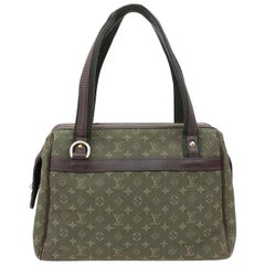 3faa92468f3b Louis Vuitton Josephine Olive Khaki Monogram Mini Lin Boston 870044 Green  Canvas