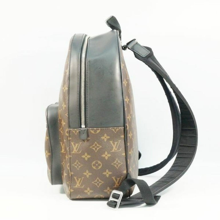 An authentic LOUIS VUITTON Josh Backpack Mens ruck sack Daypack M41530 The outside material is Monogram Macassar/ leather. The pattern is Josh  Backpack. This item is Contemporary. The year of manufacture would be 2016. Rank AB signs of wear