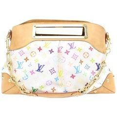 Louis Vuitton Judy White Gm 866658 Multicolore Coated Canvas Shoulder Bag