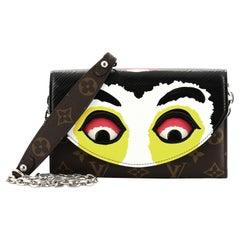 Louis Vuitton Kabuki Chain Wallet Printed Epi Leather and Monogram Canvas