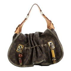 Louis Vuitton Kalahari Handbag Monogram Canvas GM