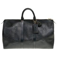 Louis Vuitton Keepall 45 Travel bag in black épi leather