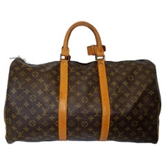 Louis Vuitton Keepall 50 Brown Monogram Duffle Bag