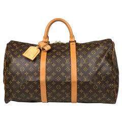 Louis Vuitton Keepall 50 Brown Monogram Weekend Bag