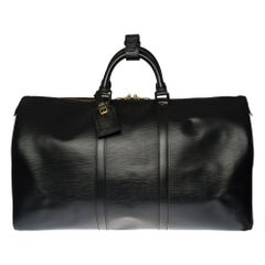 Louis Vuitton Keepall 50 Travel bag in black épi leather