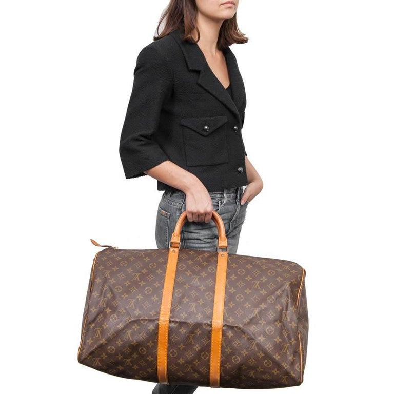 c7ad69ee6d27 Louis Vuitton  keepall 50  vintage bag in brown monogram canvas. An icon  since