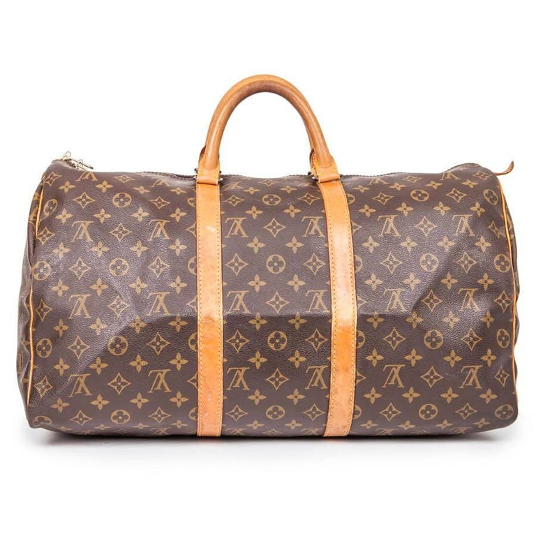 Women S Or Men Louis Vuitton Keepall 50 Vintage Bag In Brown Monogram Canvas For