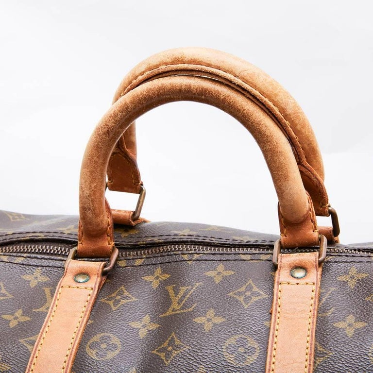 LOUIS VUITTON Keepall 55 Bag In Brown Monogram Canvas For Sale 1