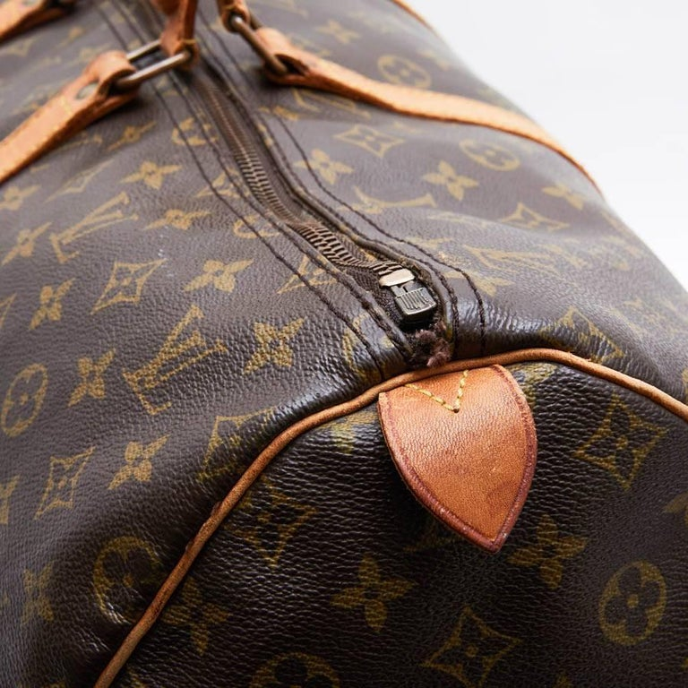 LOUIS VUITTON Keepall 55 Bag In Brown Monogram Canvas For Sale 3