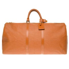 Louis Vuitton Keepall 55 in cognac épi leather
